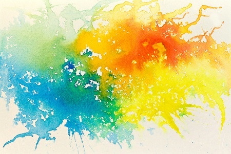 color image creativity: Abstract hand drawn watercolor background, raster illustration