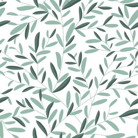 geometric: Leaves texture. Seamless pattern  Illustration