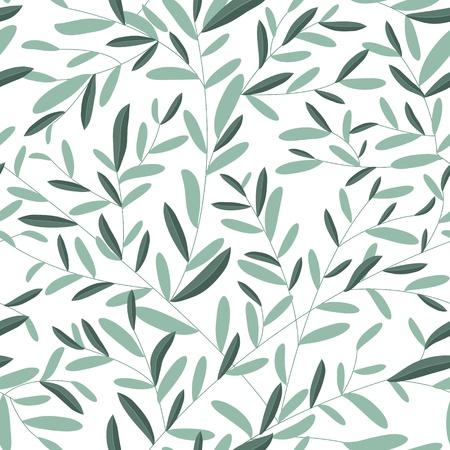 geometric design: Leaves texture. Seamless pattern  Illustration