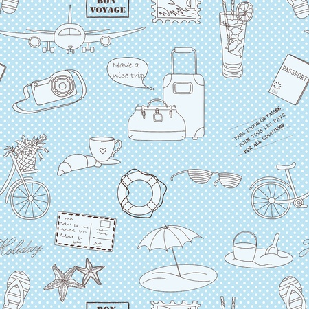 Vacations travel background  Endless pattern can be used for wallpaper, pattern fills, web page background, surface textures