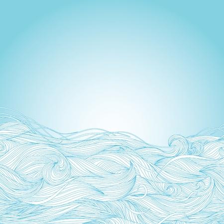 human skin texture: Estratto azzurro a mano modello, le onde di sfondo Vettoriali