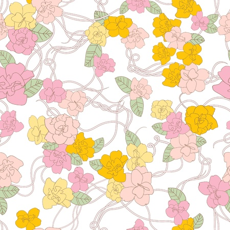 Abstract Nature Pattern with flowers  Endless pattern can be used for wallpaper, pattern fills, web page background, surface textures   Vector