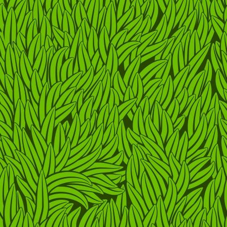 grass illustration: Grass texture. Seamless pattern