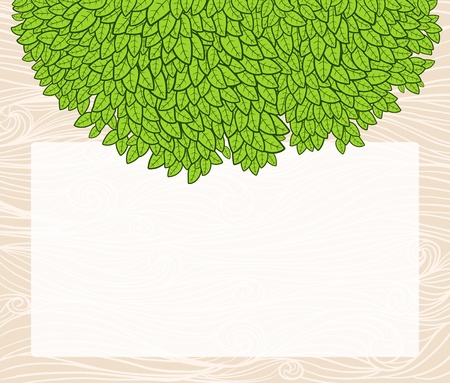 Ecological background with blank copyspace and green leaves. Stock Vector - 13830908