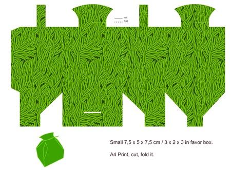 Favor box die cut. Grass pattern. Blank label. Stock Vector - 13859922