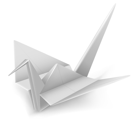 paper arts and crafts: White Crane Japanese Origami