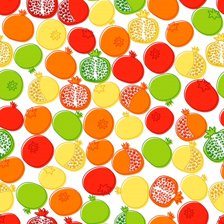 grenadine: Pomegranates background.  Endless pattern can be used for wallpaper, pattern fills, web page background, surface textures.