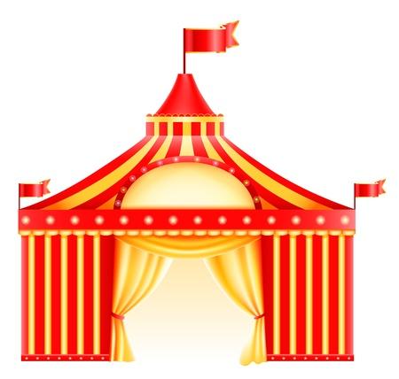 kopule: Šapitó cirkusový stan izolován v bílém Icon