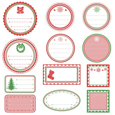 Set of Christmas Tags Stock Vector - 15182696