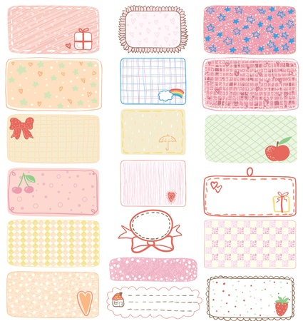 package printing: Set of gift tags, labels or sticker, illustration