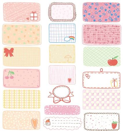 digital printing: Set of gift tags, labels or sticker, illustration