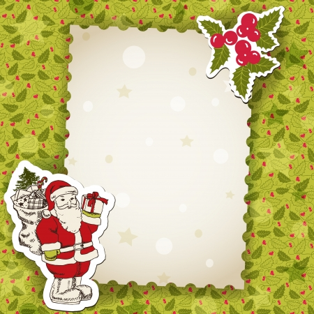Christmas background, vector cartoon photo