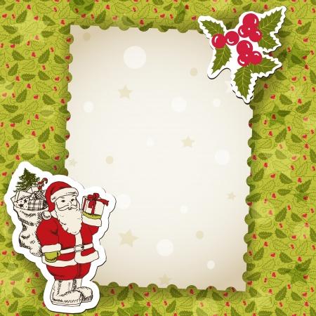 weihnachtsmann lustig: Weihnachten Hintergrund, Vektor-Cartoon