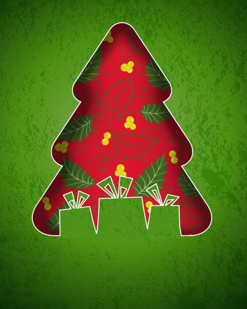 Christmas background with christmas tree. Stock Vector - 15463268