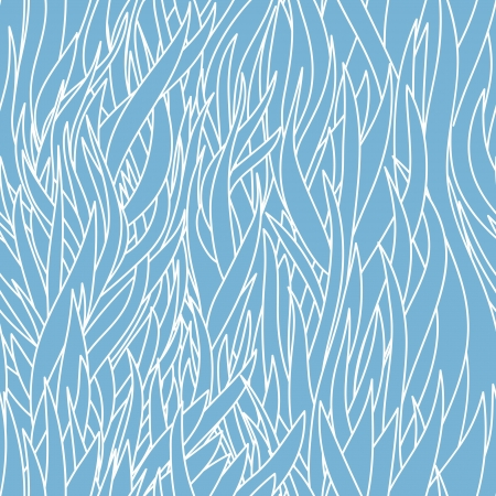Seamless abstract hand-drawn waves pattern, wavy background   向量圖像