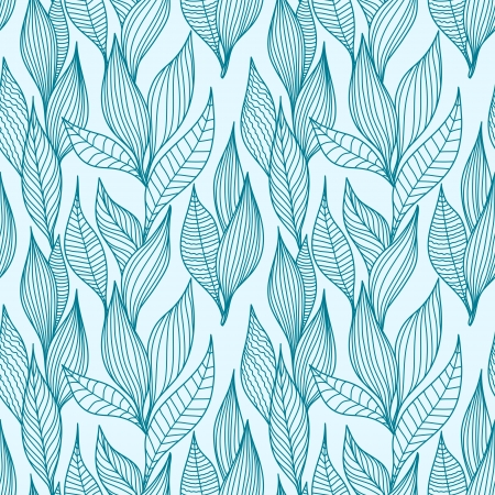 Leaves texture. Seamless pattern  Vector