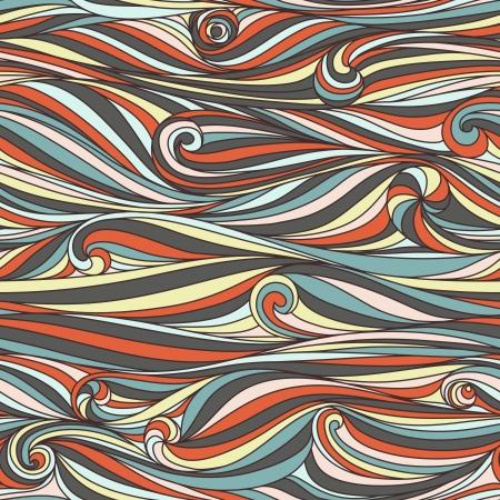 Seamless abstract handgezeichneten Wellenmuster, wellig Hintergrund Nahtlose Muster kann für Hintergrund verwendet werden, Musterfüllungen, Web-Seite Hintergrund, Oberflächenstrukturen Wunderschöne nahtlose Natur Hintergrund