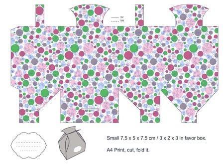 favor: Favor box die cut  Absctract pattern  Empty label