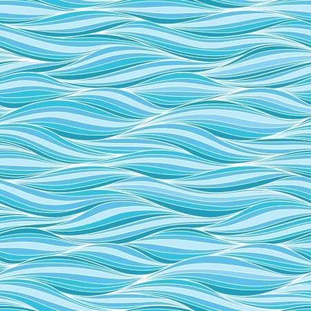 storm sea: Seamless wave hand-drawn pattern, waves background.Can be used for wallpaper, pattern fills, web page background,surface textures. Gorgeous seamless wave background.