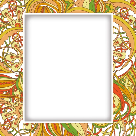 Doodle floral design. Design template. Abstract background. Stock Vector - 15887688