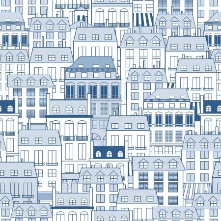 Nahtlose Muster mit städtischen Gebäuden