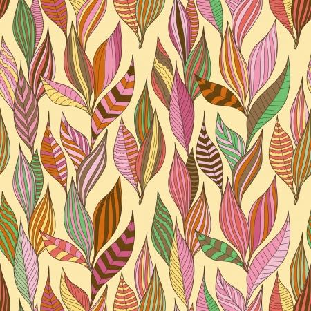 Blätter Textur. Nahtlose Muster Illustration