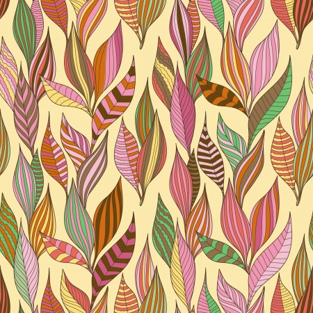 Leaves texture. Seamless pattern Vectores