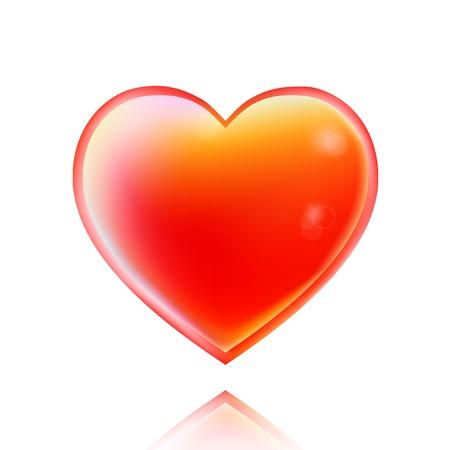 Styled shiny red heart Stock Vector - 17321893