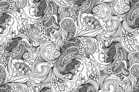 Seamless abstract hand-drawn pattern. Seamless pattern can be used for wallpaper, pattern fills, web page background,surface textures. Floral background Stock Vector - 17476570