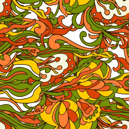 Seamless abstract hand-drawn pattern. Stock Vector - 17757231