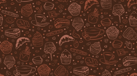 Coffee time, seamless background Vector