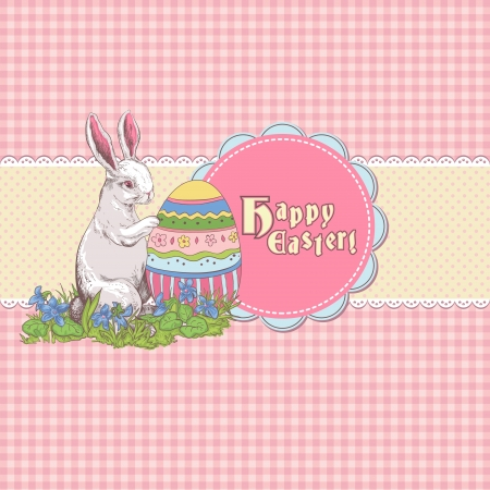 Easter card template or background. Hand drawn illustration Stock Vector - 17932560
