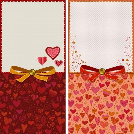 Wedding, valentines, relationship, birthday, anniversary greeting cards templates Stock Vector - 17932570
