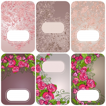 Set of floral card. invintation. Banners Vector