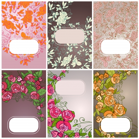 Set of floral card. invintation. Banners Stock Vector - 18002823