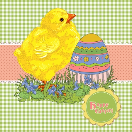 Easter card template or background  Hand drawn illustration Stock Vector - 18056422