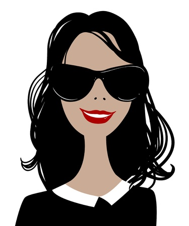 Fashion woman portrait with sunglasses for your design Vector