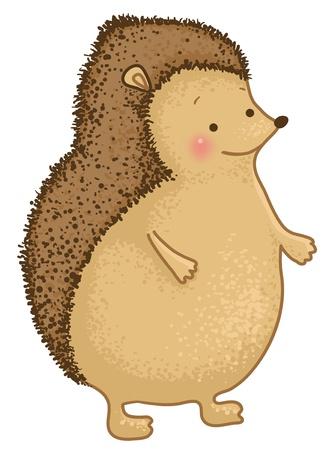 funny cartoon hedgehog character Vector