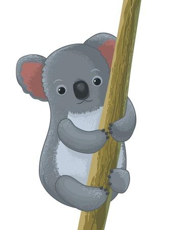 koala: divertido personaje de dibujos animados koala