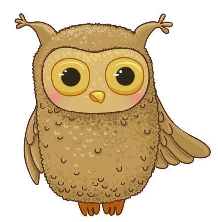 familia animada: divertido personaje de dibujos animados búho