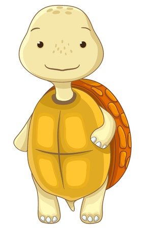 familia animada: divertido personaje de dibujos animados tortuga