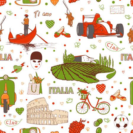 밀라노: 낙서 스케치를 설정, 이탈리아 배경 여행