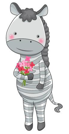zebra face: funny zebra cartoon character isolated