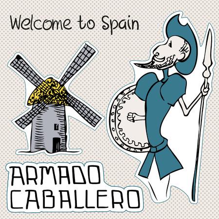Viajes España, garabatos símbolos de España. Foto de archivo - 27532414