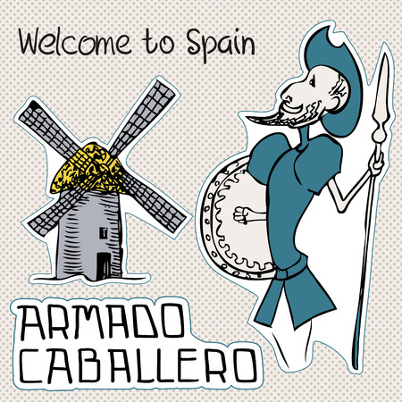 Travel Spain, doodles symbols of Spain.