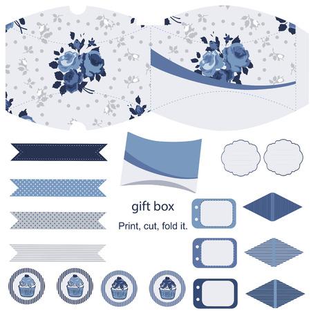 favor: Gift pillow box template