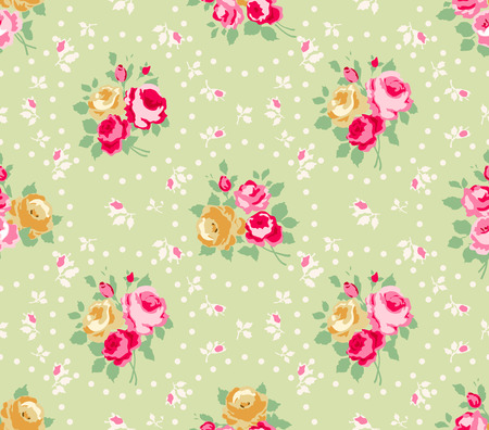 Beautiful Seamless rose pattern Vector