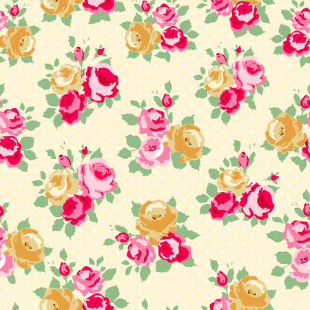 trims: Beautiful Seamless rose pattern