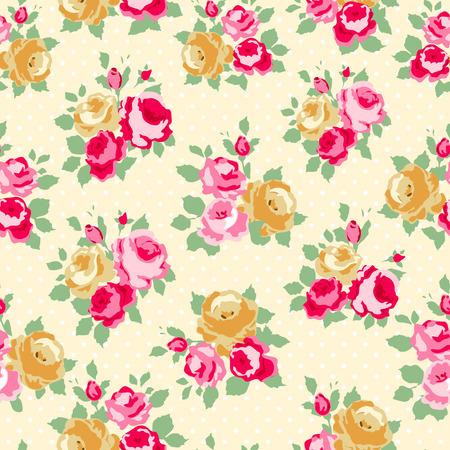 seamless: Krásné Bezešvé vzor růže Ilustrace