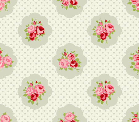 Shabby Chic Patrones Rose and backgrounds Foto de archivo - 28415215